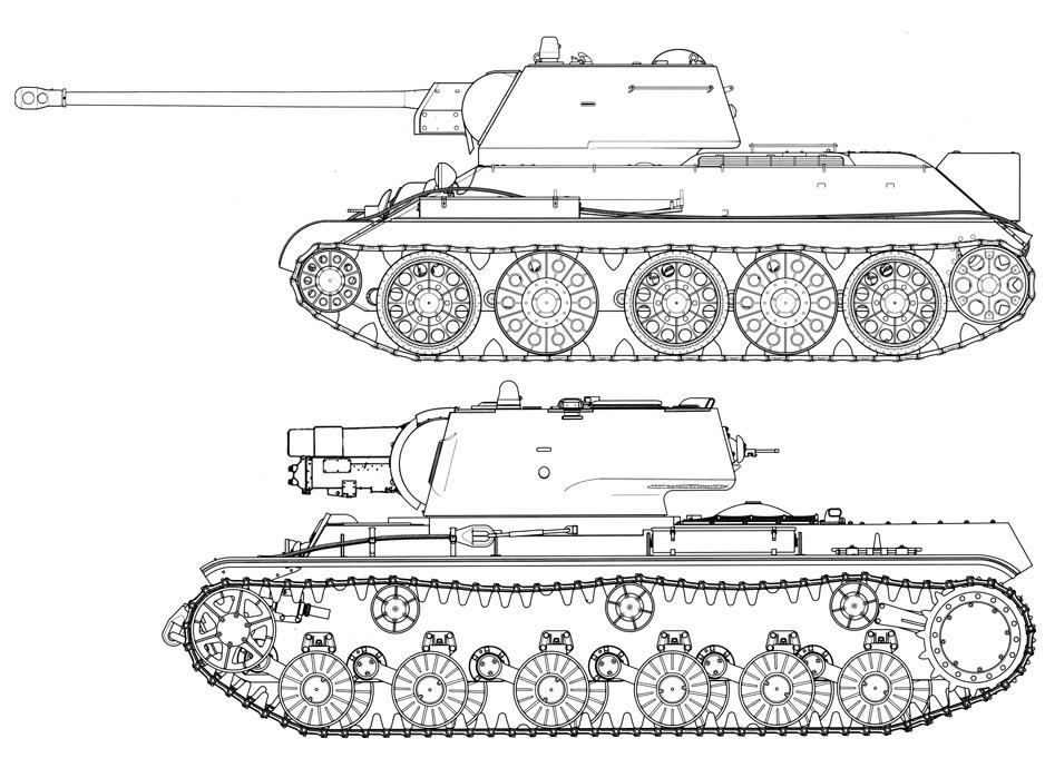 T34-17pdr KV-1-6inch